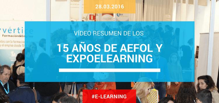 Vídeo resumen de los 15 años de AEFOL y EXPOELEARNING