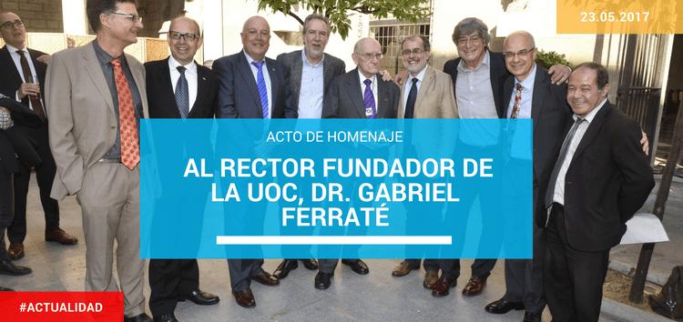 Josep Lozano participa en el acto de homenaje al primer Rector de la UOC Dr. Gabriel Ferraté