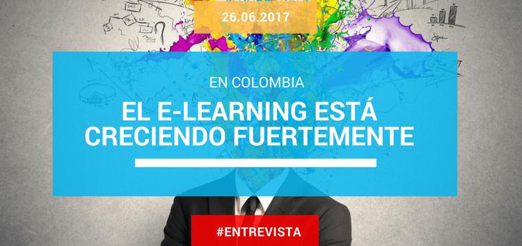 En Colombia, el e-learning está creciendo fuertemente en el sector educativo y en el empresarial
