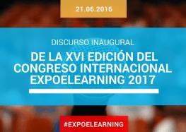Discurso inaugural de la XVI edición del Congreso Internacional EXPOELEARNING 2017