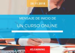 Mensaje de inicio de un curso online