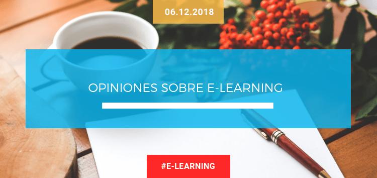 Opiniones sobre e-learning