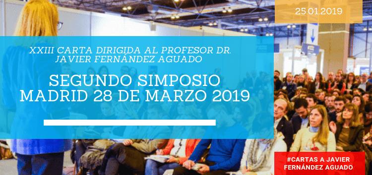 Segundo Simposio Madrid 28 de marzo 2019