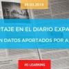 Reportaje sobre e-learning con datos aportados por Aefol