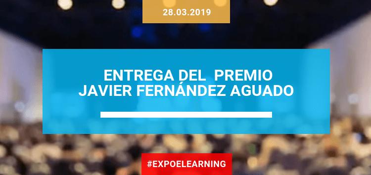 Entrega del Premio Javier Fernández Aguado en EXPOELEARNING -IFEMA 2019