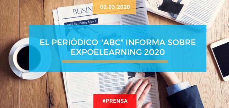 El periódico «ABC» informa sobre EXPOELEARNING 2020